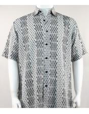 61191 Bassiri Short Sleeve Black/White mens new pattern fashion