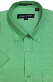 Men's Summer Wear Basic Green Oxford