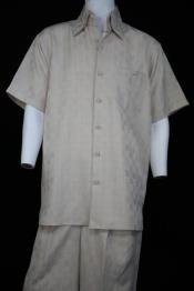 JA55 Mens Classic Gridlock Short Sleeve Ivory 2pc Zoot