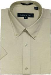Men's Oxford Dress Shirt Summer