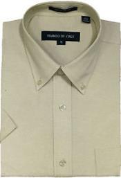 Men's Oxford Dress Shirt Summer