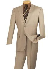 JSM-699 Mens Beige Single Breasted 2 Piece Big And
