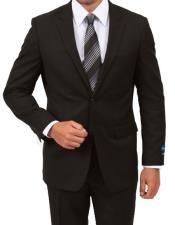 MW100-MW108 ZeGarie Mens Single Breasted Modern Fit Black Suit