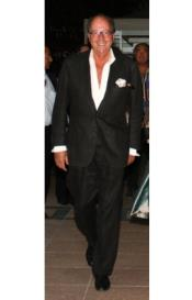 Mens Black Linen Suit -