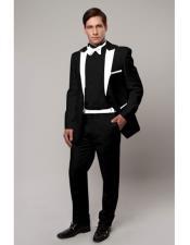 CH1988 Slim Tux black with white lapel