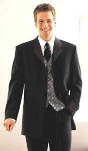 LK03 5 Buttons Long Tuxedo Suit 5button Notch Satin
