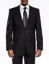 mens black slim fit wedding