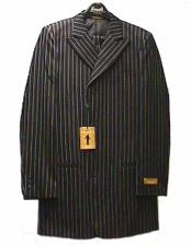 JSM-2428 Mens Black And White Pinstripe Zoot Suit