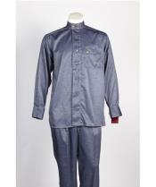 JSM-488 Mens 7 Button Single Breasted Walking Blue Suit