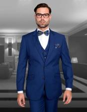 JSM-2962 Mens Sapphire Blue Slim Fit Suit 3 Piece