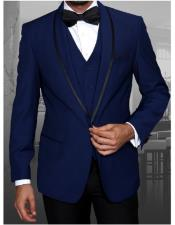 GD1102 Mens Statement Single Breasted Sapphire Blue Modern Fit