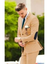 CH2451 Mens suit jacket with elbow patches Bronze Matching