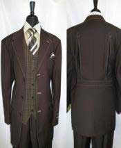 Mens 3 Button Brown Trimmed
