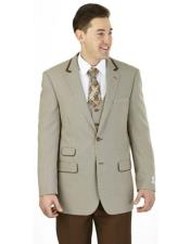 F62HV Discounted Mens 2 Buttons 3 Pieces Vested brown