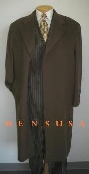Man_Topcoats ~ overcoats outerwear Full Length Chocolate brown color
