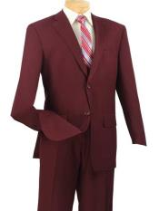 JSM-697 Mens Burgundy Single Breasted Extra Long 2 Piece
