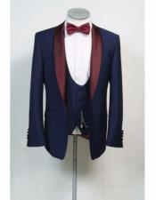 CH2260 Alberto Nardoni Best Mens Italian Suits Brands Burgundy