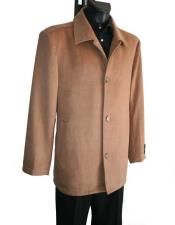 JSM-984 Mens 4 Button Camel Single Breasted Cashmere Wool