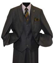SD231 Mens 2 Button Charcoal Single Breasted Peak Lapel