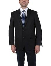 Product#CH1884Men'sClassicBlack2ButtonBlazerSuitJacket
