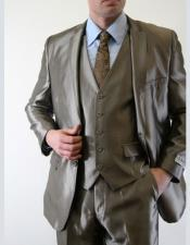 Mens Sharkskin  Metallic