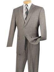 JSM-698 Mens Gray Single Breasted Extra Long 2 Piece