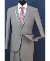Two Toned And Fashion Gray Homecoming Tuxedo
