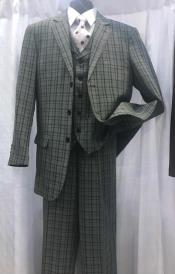 Milano Moda Mens Plaid