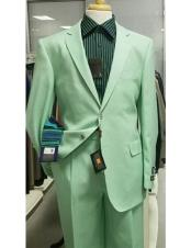 CH2317 Mens Single Breasted Notch Lapel green Suit for