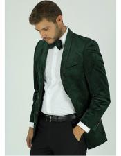 GD691 Mens Single Breasted Green Velvet Tuxedo Dinner Jacket