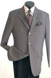 VM640 Classic Single Breasted Grey Blazer Online Sale