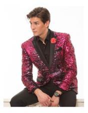 JSM-6815 Hot Pink Sequin tuxedo