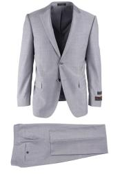 SM4744 Mens Wool Light Gray Herringbone Novello Modern Fit