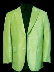 Mens Two Buttons Lime