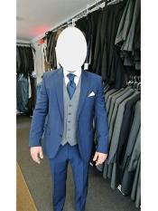 Product#MO580Singlebreastedflappocketwoolnavysuitmen's
