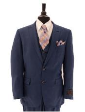 JSM-1576 Mens Tiglio Lux 3 Piece Single Breasted Suit