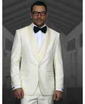 GD1814 Mens Single Breasted Off White Shawl Lapel 1