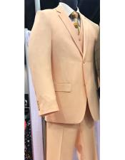 Peach~Coral3PieceSuit2buttonVested