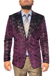 mensSequin~UniqueShinyFashionProm~PaisleySport
