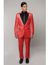 Slim Tux red with black