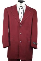 JA58 Harlem Maroon Red Notch Lapel Zoot Suit