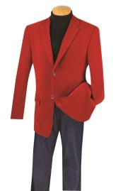 SM5193 Big And Tall Blazers Clearance Cheap Red Velvet
