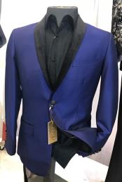 mens Royal Blue Fancy Blazer