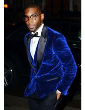 CH1598 Mens Royal Blue Velvet Tuxedo Blazer ~ Sport