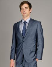 Mens Single Breasted Sharkskin Authentic