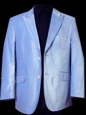 JS366 Mens Two Button Sky Blue Sport Coat Blazer