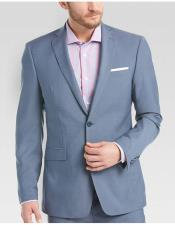 JSM-6036 Mens Sky Blue ~ Light Blue Slim Fit