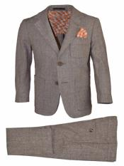 JA183 Mens 2pc Notch Lapel Tan Mens 2 Piece