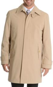 ZO102 Blu Martini Button Up Single Breasted Rain Coat