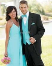 JSM-5105 Teal Blue Tuxedo For Men